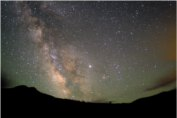 a view of the milky way shows dust and gases